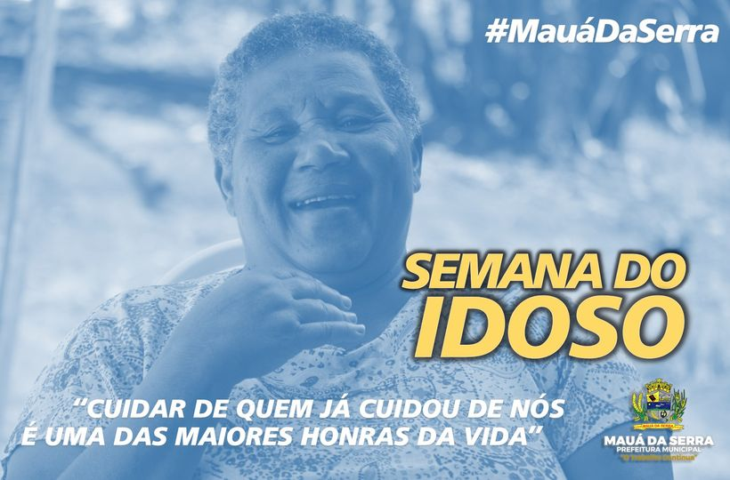 No dia 1º de outubro, comemora-se o Dia do Idoso e seguimos com a semana do idoso
