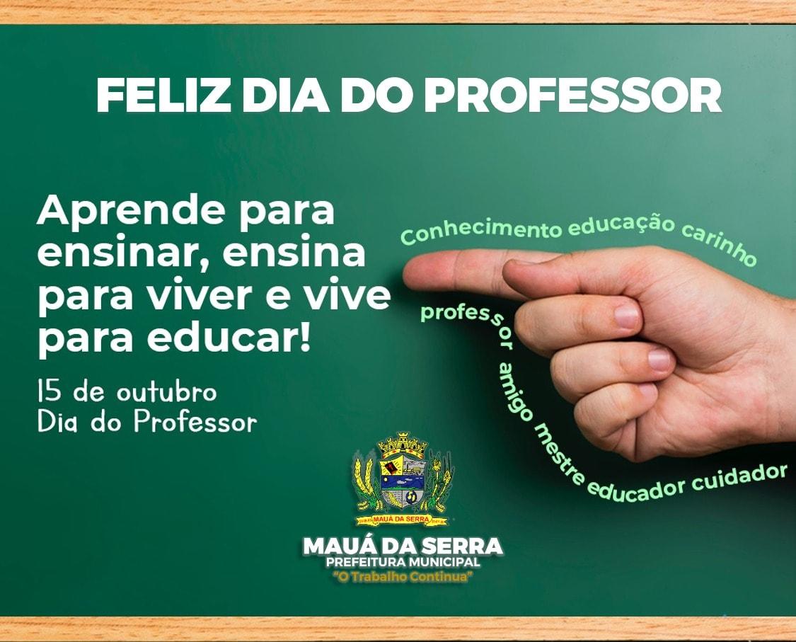 Aos mestres, feliz dia do professor